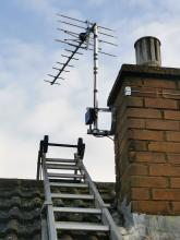 New digital aerial and 4 way masthead amplifier in dunstable